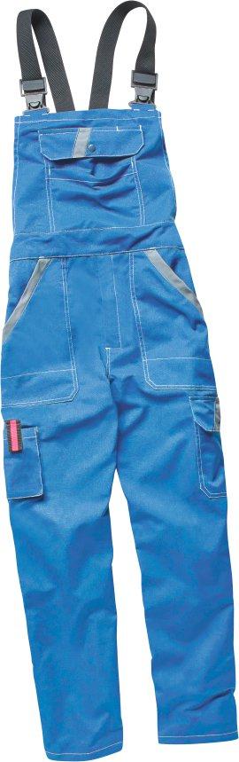 WERKSTOFF Latzhose Basic blau/grau 44