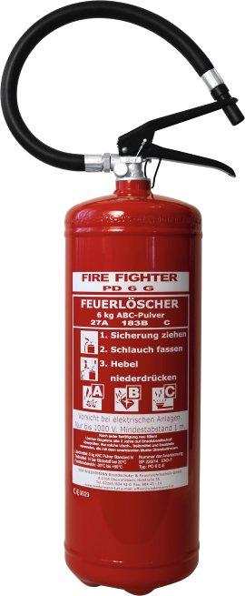 Pulverfeuerlöscher Rasant PD6GE 6 kg