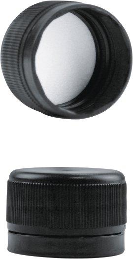 Schraubverschluss schwarz 10 Stück