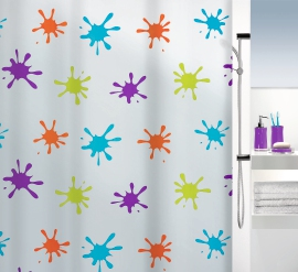 Duschvorhang Splash multicolor 180x200 cm