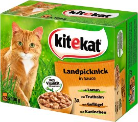 KITEKAT Landpicknick in Sauce 12x100g