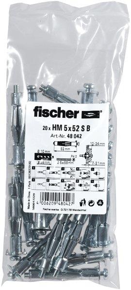 FISCHER Hohlraum-Metalldübel HM SB 5 mm