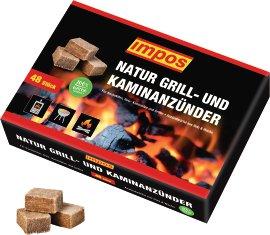 IMPOS Grill- & Kaminanzündwürfel im Karton