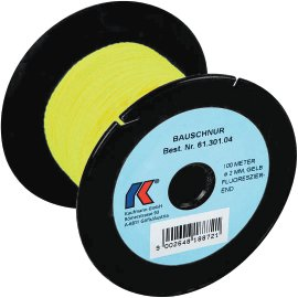 KAUFMANN Bauschnur gelb-fluoreszierend