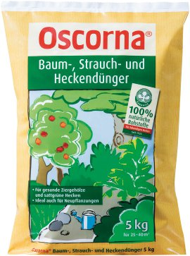OSCORNA Baum-, Strauch- und Heckendünger 5 kg