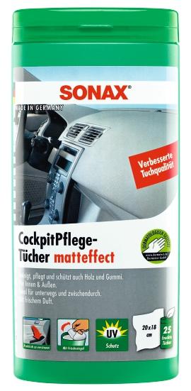 SONAX Cockpit-Pflegetücher Matteffekt