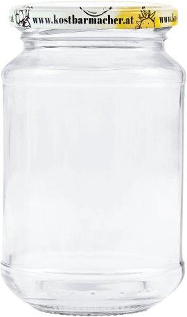 Vorratsglas mit Schraubdeckel Obstdekor 215 ml, 6 Stück