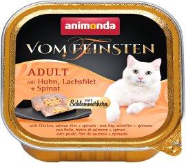 ANIMONDA Katzennahrung Vom Feinsten Schale mit Schlemmerkern Huhn+Lachs+Spinat