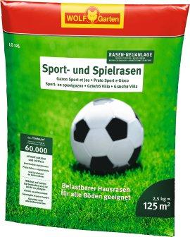 WOLF GARTEN Sport- und Spielrasen 2,5 kg