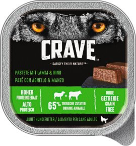 CRAVE Hundefutter Schale, Lamm und Rind 300 g