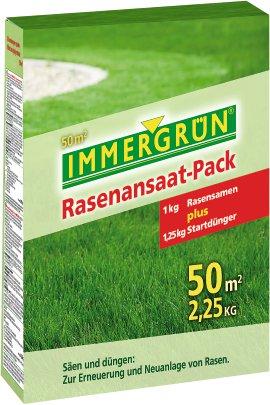 IMMERGRÜN Rasenansaat-Pack für 50 m²