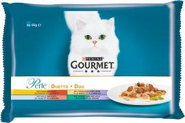 GOURMET Katzennahrung Perle Duetto Huhn und Rind 24x85 g