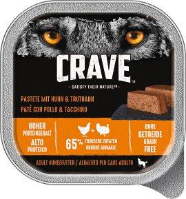 CRAVE Hundefutter Schale, Huhn und Truthahn 300 g