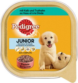 PEDIGREE Hundenahrung Schale Junior Kalb+Truthahn