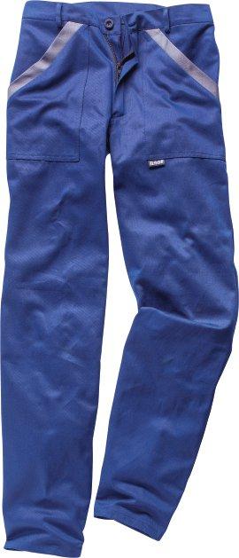WERKSTOFF Bundhose Baumwolle blau/grau 44