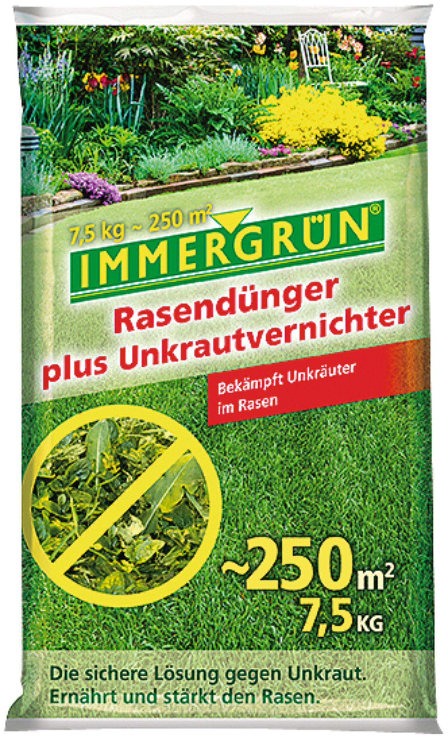 Immergrun Rasendunger Plus Unkrautvernichter 7 5 Kg Lagerhaus
