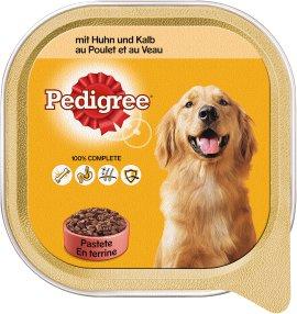 PEDIGREE Hundenahrung Schale Adult Huhn und Kalb 10x300 g