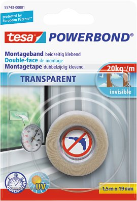 TESA Powerband Montageband transparent