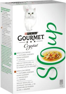 GOURMET Soup Huhn und Weißfisch und Gemüse 4x40 g