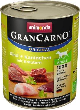 ANIMONDA Grancarno Adult Rind und Kaninchen mit Kräutern 800 g