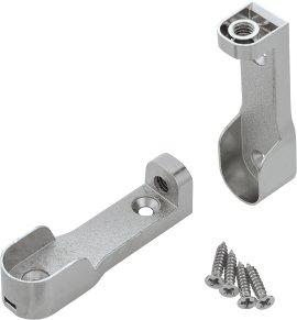 SUKI Metall-Stangenlager vernickelt oval 30x15 mm 2 Stk.