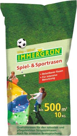 IMMERGRÜN Rasensamen Spiel+Sport neue Rezeptur 10 kg
