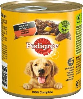 PEDIGREE Hundenahrung Rind und Gemüse mit Nudeln 800 g