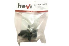 Hevi Steckdose 3-polig PVC