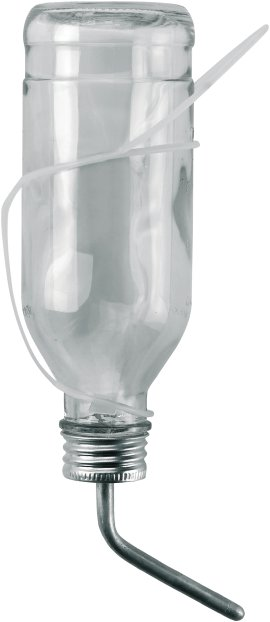 Einhängeeinrichtung für Kaninchen-Trinkflasche