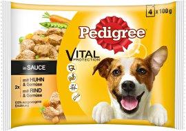 PEDIGREE Hundenahrung Beutel Huhn und Rind in Sauce 4x100 g