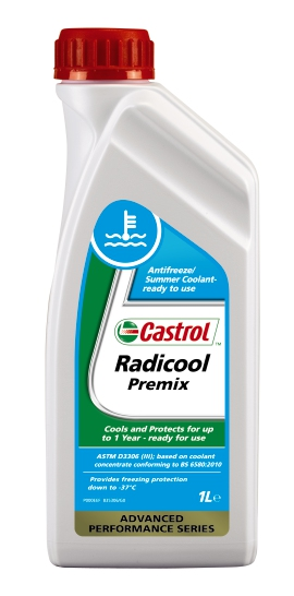 CASTROL Radicool Premix 1L, Kühlerfrostschutz Fertiggemisch