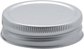 Schraubdeckel Silber 4 Stk.