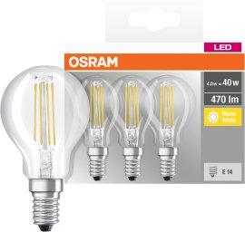 LED-Tropfen 4W 3er-Packung
