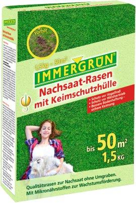 IMMERGRÜN Nachsaat-Rasen mit Keimschutzhülle 1,5 kg