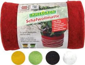 IMMERGRÜN Schafwollmatte Rot 20x200 cm