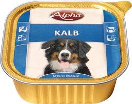 ALPHA Hundenahrung Schale Kalb 300 g