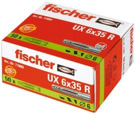 FISCHER Universaldübel UX R 6 mm 50 Stk.