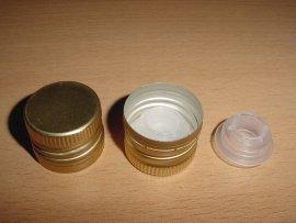 Alu PP 31,5 Öl mit Ausgießer Gold - 100 St