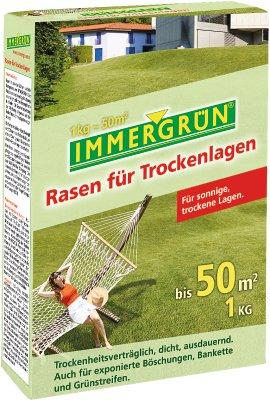 IMMERGRÜN Rasen für Trockenlagen 1 kg