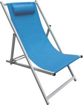 TALOO Alu-Strandsessel Blau