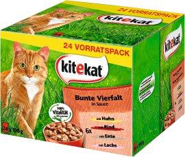 KITEKAT Bunte Vierfalt in Sauce, 24x100 g