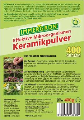 IMMERGRÜN Bio Effektive Mikroorganismen Keramikpulver