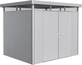 BIOHORT Gerätehaus HighLine H5, silber-metallic