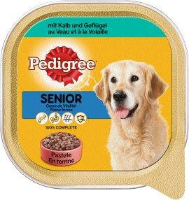 PEDIGREE Hundenahrung Schale Senior Kalb und Geflügel 10x300 g