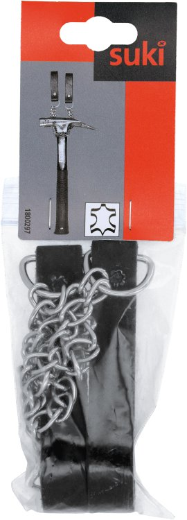 SUKI Hammerkette Leder schwarz