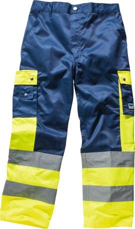 WERKSTOFF Bundhose Exklusiv blau/signalgelb 62