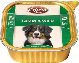 ALPHA Hundenahrung Schale Lamm und Wild 300 g