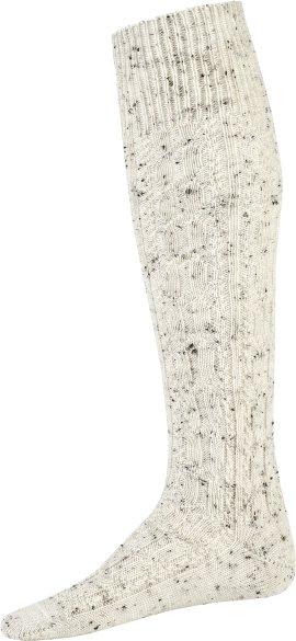 Wild & Wald Strumpf mit Zopfmuster weiß