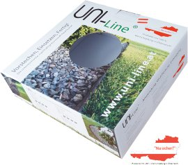 Uni-Line Rasenkante Standard 0,2x10 cm, 25 m