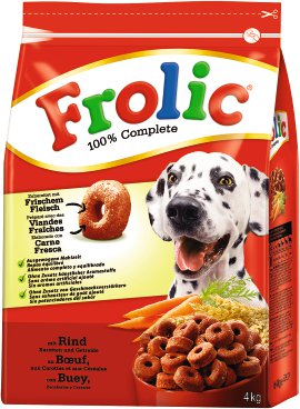 FROLIC Hundenahrung Rind+Karotten+Getreide